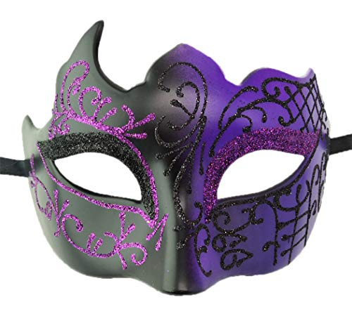Mens Masquerade Mask Vintage Greek Roman Mask Venetian Party Mask Halloween Mardi Gras Mask (Z -