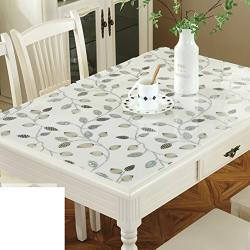 Pvc,transparent table cloth/soft glass table/plastic ,transparent mat/crystal table mat/thicken,[waterproof], burn-proof, oil-proof , disposable table mat-L 90x150cm(35x59inch) by KDHKDNVNIDLL