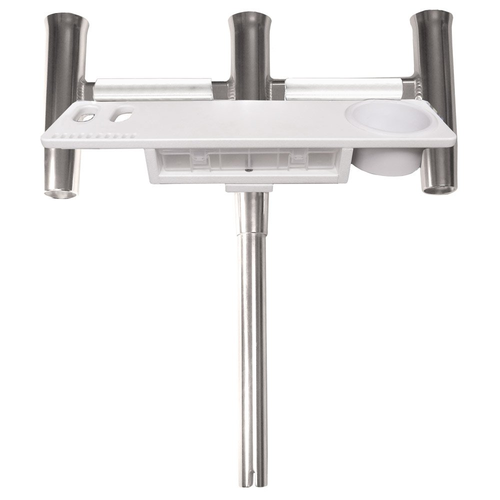 Taco Metals Deluxe Trident Straight Rod Holder with Tool Caddy by Taco Metals
