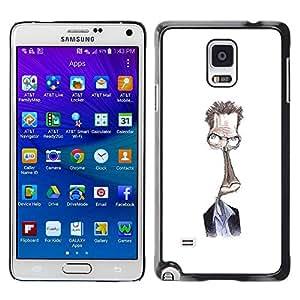 TopCaseStore / la caja del caucho duro de la cubierta de protección de la piel - White Alien Character - Samsung Galaxy Note 4 SM-N910F SM-N910K SM-N910C SM-N910W8 SM-N910U SM-N910