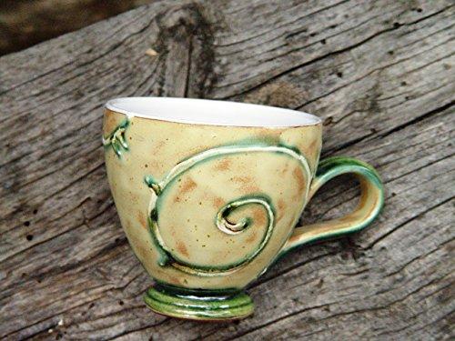 Handmade Pottery Coffee or Tea Mug, Wheel Thrown Ceramics, Danko Pottery ()