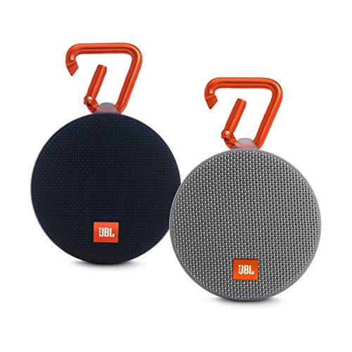 JBL Clip 2 Waterproof Portable Bluetooth Speaker Pair