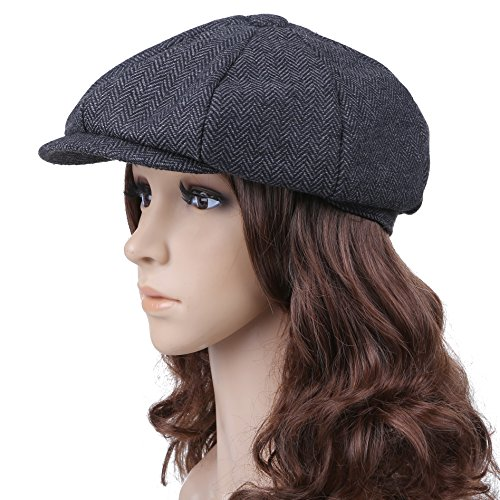 Unisex Outdoor Winter Octagonal Cap Beret Hat Newsboy