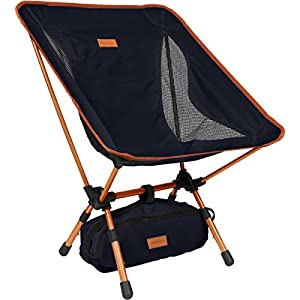 9. YIZI GO Compact Portable Camping Chair with Adjustable Height
