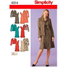 Simplicity Karen Z Pattern 4014 Women's Unlined Coat, Jacket and Lined Dress Sizes 10-12-14-16-18