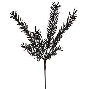 "Vickerman 21"" Sparkling Black Rosemary Glitter Floral Crafting Christmas Spray 25"