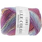 Lang Yarns Mille Colori Pelote de laine pour chaussettes et lacets Violet/bleu