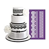 AK ART KITCHENWARE Laciness Cake Mesh Stencil for Royal Icing Fabric Lace Cake Stencil Decorating Tools Fondant Mold Lace Mat Baking & Pastry Tools Bakeware Cake Border Stencils Fondant Molds MST-02