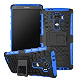 for LG G4 [Spider Dot] GuluGuru PC+TPU Hybrid Back Cover Impact Resistant Shockproof With Built in Stand Armor Cell Phone Case