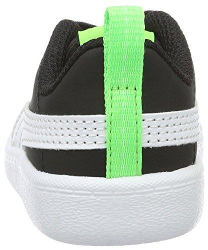 Puma Courtflex Inf, Zapatillas Unisex Niños Negro (Black-White)
