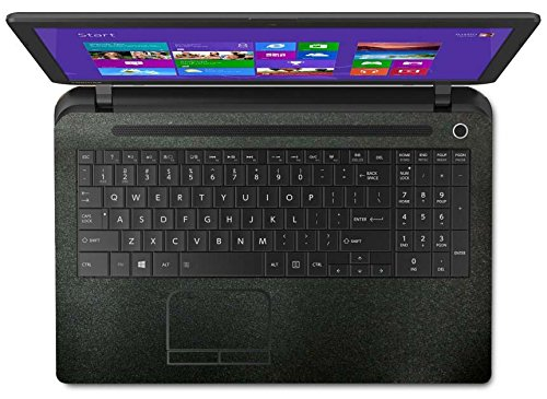"""BingoBuy Palm Rest Decal Vinyl Sticker Cover With Touchpad Trackpad Protector Skin for 15.6"""" Toshiba Satellite C55-B C55t-B C55D-B series Laptop (Matte black palmrest cover)"""