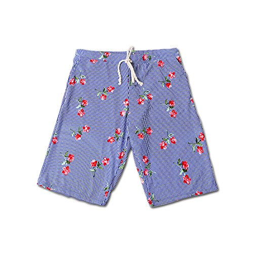Loose Rápido Seaside Para White Beach Blue Shorts Playa Flowers And Pants  Forwin Uk Pantalones Fashion De Hombres Secado ... 884f27680a5
