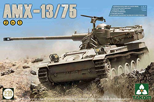 Takom 2036 AMX-13/75 I.D.F Light Tank 1/35 Scale Model Kit