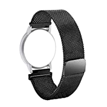 AnBell Watch Band Replacement for Withings Activite/Steel/Pop,18mm Milanese Loop Watchband Stainless Steel Magnetic Closure Strap for Huawei Watch