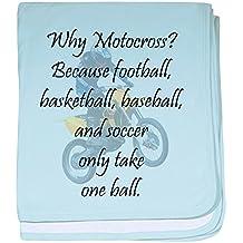 CafePress - Why Motocross? baby blanket - Baby Blanket, Super Soft Newborn Swaddle