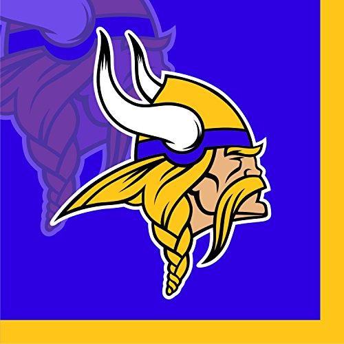 Creative Converting 16 Count Minnesota Vikings Beverage Napkins