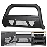 fj cruiser grill guard - VXMOTOR Matte Black Heavyduty Studded Mesh Bull Bar Brush Push Front Bumper Grill Grille Guard With Skid Plate 2007-2014 Toyota FJ Cruiser