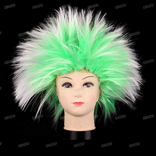 Amazing Explosion Of Head Clown Cap Curly Hair Wig Fans Hats Masquerade Props Birthday Party Decoration Halloween Christmas 2