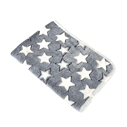 OOEOO Pet Throw Blanket for Dog Cat Bed Rest Breathable Pet Cushion Soft Warm Sleep Mat (Gray, 40x60CM) by OOEOO Pet Clothes (Image #1)