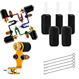 MagiDeal 5 Sets Professional Alloy Rotary Tattoo Machine Shader & Liner Assorted Tattoo Motor Gun Kit with Needles Tubes Supply