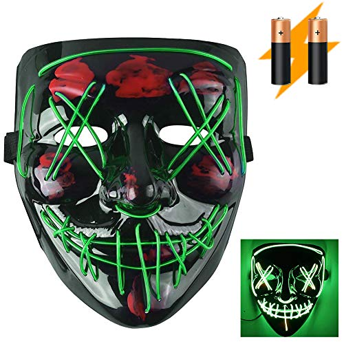 Disfraces Para Halloween De Hombre (LED Halloween Scary Mask for Women & Men Gifts, Costume Parties, Dance, Carnival or)
