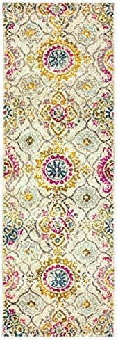 Superior 10mm Pile Height with Jute Backing, Durable, Fashionable and Easy Maintenance, Alyzia Collection Area Rug, 2 7 x 8 Runner