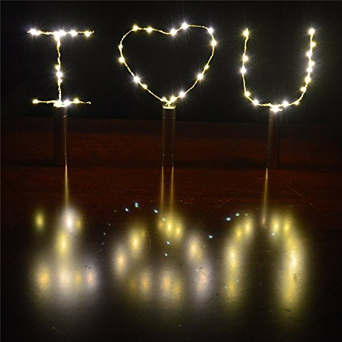 3 Pack Fairy String Lights Battery Operated Cork Lights for Wine Bottles Bottle DIY, Bedroom, Party, Table Decor, Christmas, Halloween, Wedding Centerpieces Warm -