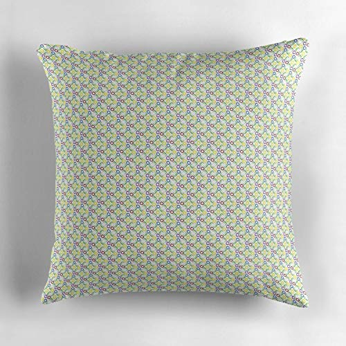 Jidmerrnm Alphabet Soup Patterns Colorful Decorative Throw Pillow Cover for Couch, Sofa, or Bed 18 x 18 inch Modern Design Soft - Alphabet Pattern Soup