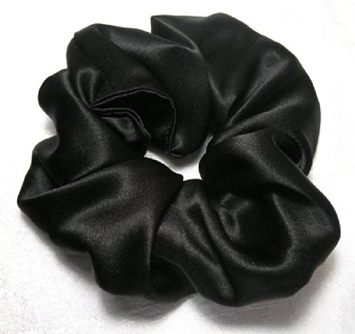 Black silk Scrunchy- Scrunchies For Hair - silk Scrunchies - Made In The USA - Hair Scrunchies For Women - 3 Month Warranty - Scrunchies For Hair silk - Christmas gifts…
