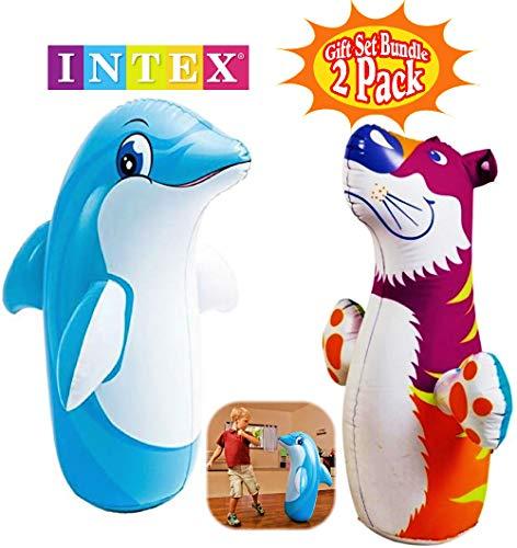 Intex 3D Bop Bag Blow Up Inflatable Dolphin (38