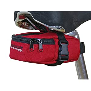 Bushwhacker Butte Red Bicycle Seat Bag Cycling Tool & Tire Pack Bike Under Seat Wedge Saddle Bag Front Rear Frame Accessories