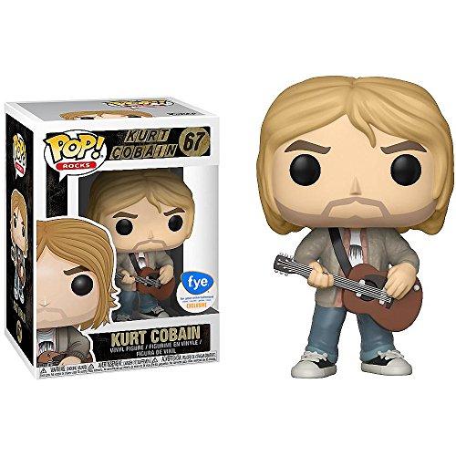 Funko Kurt Cobain (f.y.e. Exclusive): x POP! Rocks Vinyl Figure & 1 POP! Compatible PET Plastic Graphical Protector Bundle [#067 / 26090 - B] ()