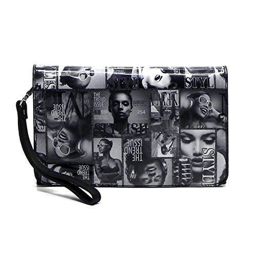 Magazine Body Cover Hipster Messenger black Cross Collage Clutch 010q Bag Bag 7rZaWUf7q
