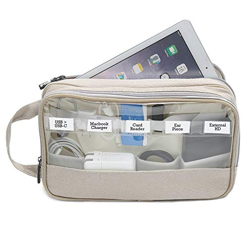 Great Useful Stuff G.U.S. [2017 Update] 2-Sided Drawer and Desk Organizing Pouch - Zen (Charging Station And Desk Organizer For Handheld Electronics)