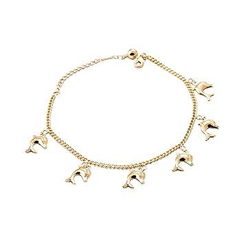 Kupferfarbene Dekoration.Damen Armbänder Mit Delfin Dekoration Kupferfarbene Kette
