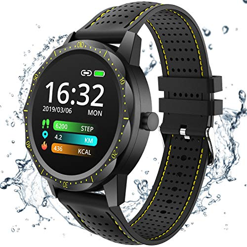COLMI Smart Watch, Wearable Wrist Watch with All-Day Heart Rate Blood Pressure Monitor, Waterproof Fitness Tracker for Women Men Kids, Bluetooth Pedometer Compatible Andriod iOS