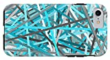 iPhone 8 Case ''Link - Turquoise And Gray Abstract'' by Pixels