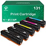 GREENSKY Compatible Toner Cartridges Replacement for HP 131X 131A 125A 128A CF210A CF210X CF211A CE320A Laserjet Pro 200 Color M251n M251nw for Canon 131 131H 116 (Black, Cyan, Yellow, Magenta, 5 pk)