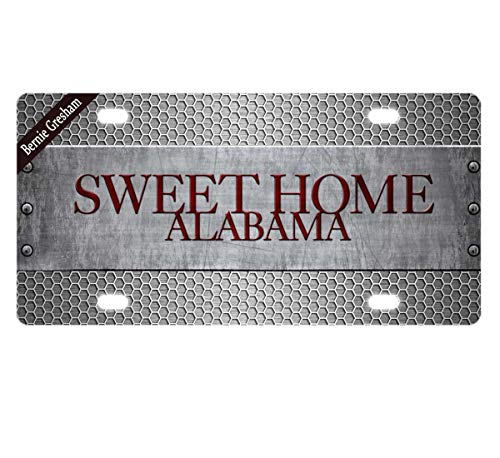 Bernie Gresham License Plate Cover Sweet Home Alabama Metal License Plate Cover Decorative Car License Plate Auto Tag Sign 6x12 Inch