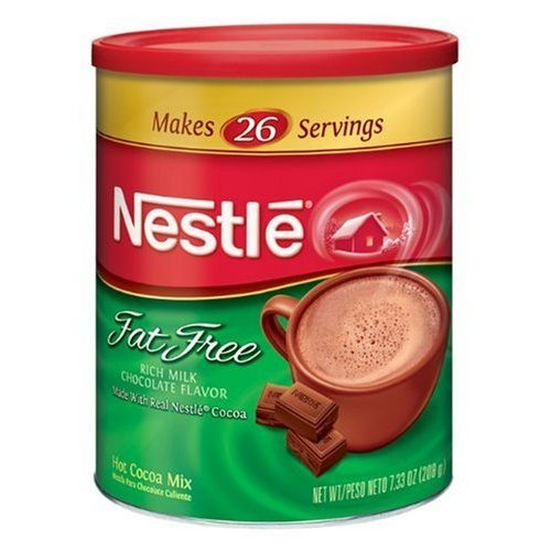 Nestle Hot Cocoa Mix Fat Free Canisters 7.25 OZ (Pack of 24) by Nestle