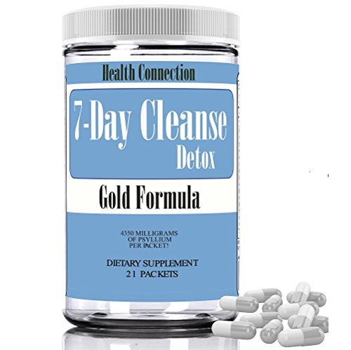 7 Day Fast Track Ultimate Cleanse Gold Formula Full Body Cleanse Flush Body Toxins, Weight Loss, Max Strength, Detox Cleanser, Colon Cleansing Diet Digestive Health Diet Pills for Men & ()