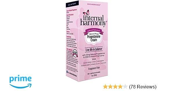 Amazon.com: Internal Harmony Natural Progesterone Cream with Vitamin ...