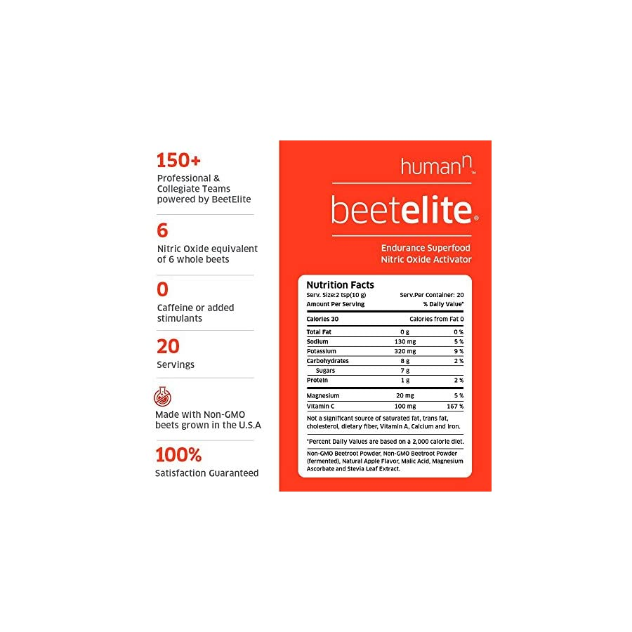 BeetElite Black Cherry Sport Canister Premium Nitric Oxide Booster Ð Non GMO Nitrate Rich Beet Root Powder 2 Cannisters of 20 Servings