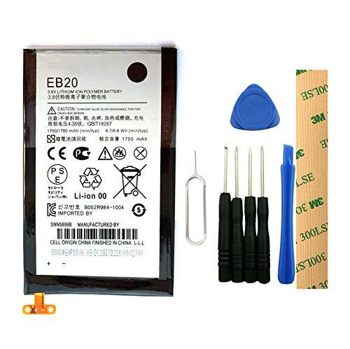 for Verizon Motorola Droid Razr XT912 Replacement Battery EB20 Free Adhesive Tool