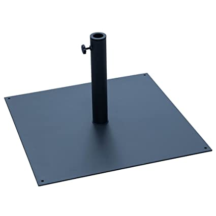 Sundale Outdoor 38.5 lbs Heavy Duty Square Steel Plate Stand Patio Umbrella  Base, Black - Amazon.com : Sundale Outdoor 38.5 Lbs Heavy Duty Square Steel Plate