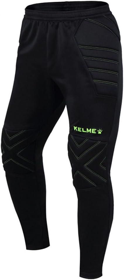 Kelme Pantalones De Portero Para Hombre Y Nino Negro Verde Kids Us 12 Amazon Com Mx Deportes Y Aire Libre
