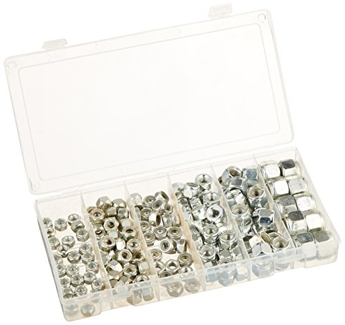 Lock Nut Kit - Neiko 50432A Nylon Lock Nut Assortment Kit with Carrying Case, 150 Pieces | SAE
