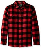 Woolrich Men's Oxbow Bend Flannel Shirt, Black/Red, Large
