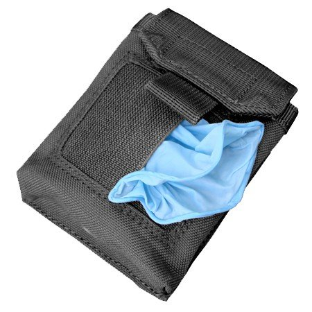 Glove Pouch - Condor Outdoors MOLLE EMT Glove Pouch (Black)