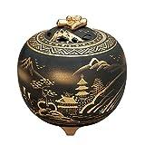 Japanese Kutani Yaki Porcelain Incense Burners Sansui